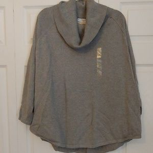 *NWT* Grey Cowlneck Sweater